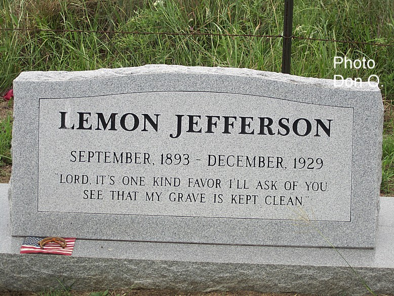 headstone set in 1997 by Blues-L internet group