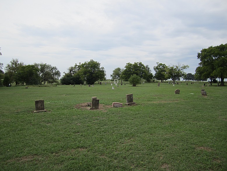 view of the cemetery west