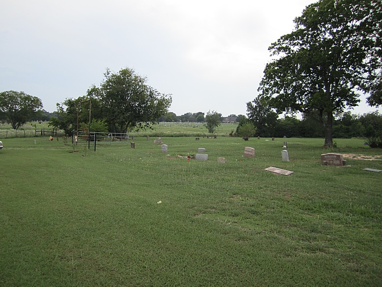 view of the cemetery south