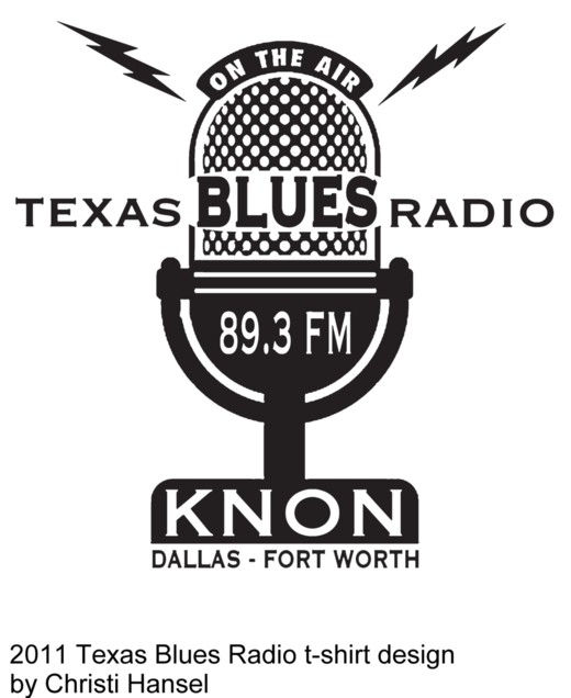 2011 Texas Blues Radio t-shirt design